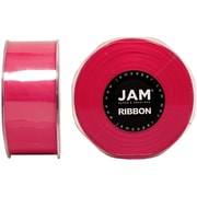 JAM PaperMD – Ruban satiné double face, 1,5 pouces de large x 25 verges, rose vif, 2/paquet (808SAshpi25g)