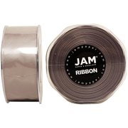 JAM PaperMD – Ruban satiné double face, 1,5 pouces de large x 25 verges, argenté, 2/paquet (808SAsi25g)