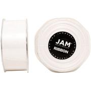 JAM PaperMD – Ruban de satin double face, 1,5 po de largeur x 25 verges, blanc, 2/paquet (808SAwh25g)