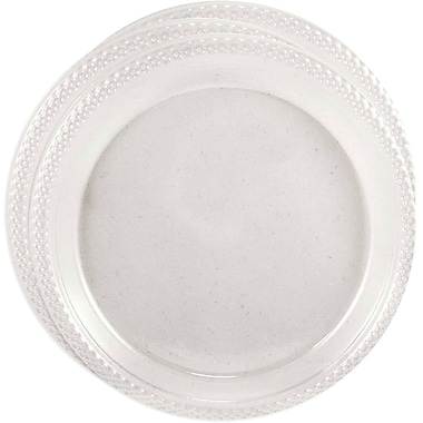 JAM Paper® Round Plastic Plates, Medium, 9 Inch, Clear, 3 packs of 20 (9255320679g)