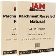 Jam PaperMD – 24 lb, papier parchemin recyclé, 8 1/2 x 11 po, naturel, paquet de 200 feuilles