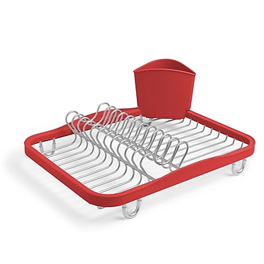 Umbra Sinkin Dish Rack, Red