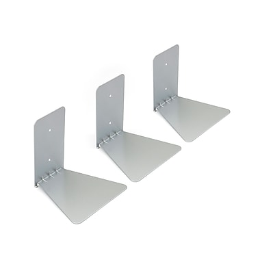 Umbra Conceal Floating Wall Shelf, Small, Silver, 3/Pack