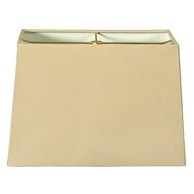 RoyalDesigns Timeless 8'' Shantung Rectangular Lamp Shade; Linen Beige