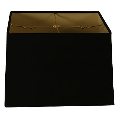 RoyalDesigns Timeless 16'' Shantung Square Lamp Shade; Black