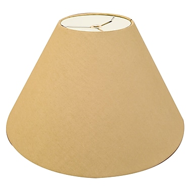RoyalDesigns Timeless Coolie 12'' Linen Empire Lamp Shade; Antique Gold