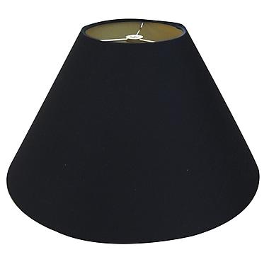 RoyalDesigns Timeless Coolie 12'' Linen Empire Lamp Shade; Black