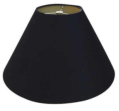 RoyalDesigns Timeless Coolie 12'' Linen Empire Lamp Shade; Black