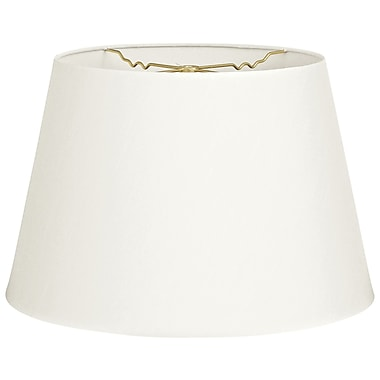 RoyalDesigns Timeless Tapered 12'' Shantung Empire Lamp Shade; White