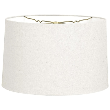 RoyalDesigns Timeless 12'' Linen Drum Lamp Shade; Linen White