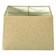 RoyalDesigns Timeless 12'' Linen Square Lamp Shade; White
