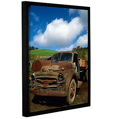 ArtWall Old Truck by Kathy Yates Framed Photographic Print; 18'' H x 24'' W