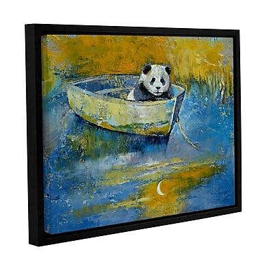 ArtWall Panda Sailor by Michael Creese Framed Painting Print; 24'' H x 32'' W