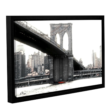 ArtWall Nyc'S Brooklyn Bridge by Linda Parker Framed Photographic Print; 12'' H x 18'' W