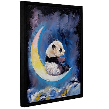 ArtWall Crescent Moon by Michael Creese Framed Painting Print on Wrapped Canvas; 36'' H x 48'' W