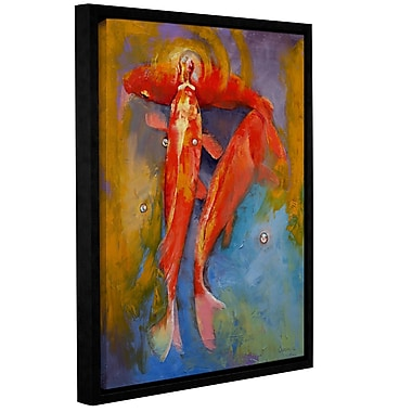 ArtWall Koi Bubbles by Michael Creese Framed Painting Print; 24'' H x 18'' W