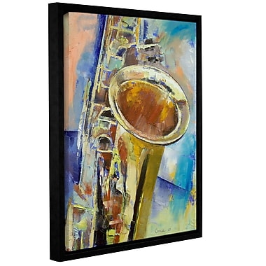 ArtWall Saxaphone by Michael Creese Framed Painting Print; 18'' H x 24'' W