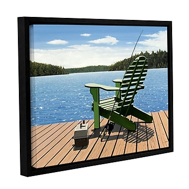 ArtWall Fishing Chair by Ken Kirsh Framed Photographic Print on Wrapped Canvas; 36'' H x 48'' W