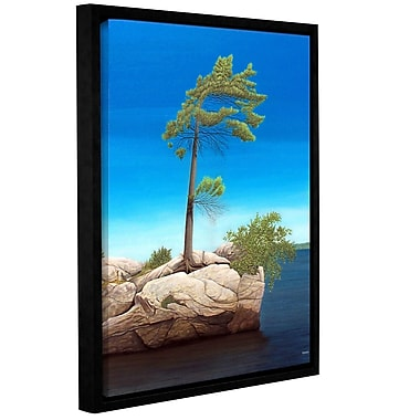 ArtWall Tree Rock by Ken Kirsh Framed Photographic Print on Wrapped Canvas; 24'' H x 32'' W