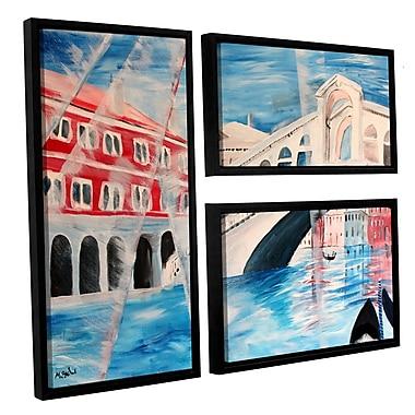 ArtWall Rialto Bridge by Marcus/Martina Bleichner 3 Piece Framed Painting Print Set