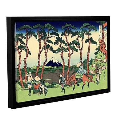 ArtWall Hodogaya on the Tokaido by Katsushika Hokusai Framed Painting Print; 32'' H x 48'' W
