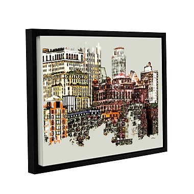 ArtWall Nyc Manhattan Cluster by Linda Parker Framed Graphic Art; 18'' H x 24'' W