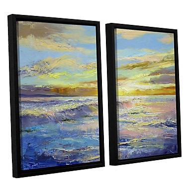 ArtWall Florida Sunrise by Michael Creese 2 Piece Framed Painting Print Set; 24'' H x 36'' W x 2'' D