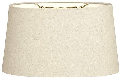 RoyalDesigns Timeless 16'' Shantung Empire Lamp Shade; Linen Beige