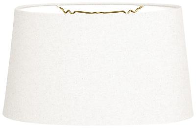 RoyalDesigns Timeless 14'' Linen Empire Lamp Shade; Linen White