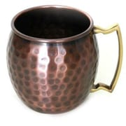 MarktSq Classic Hammered Solid Copper Barrel Mug