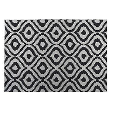 Kavka Black/Gray Indoor/Outdoor Doormat; 4' x 5'