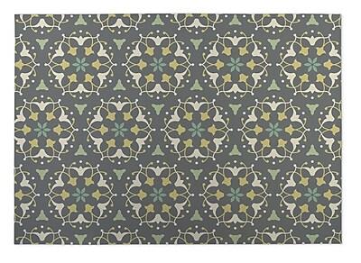 Kavka Gray Indoor/Outdoor Doormat; Rectangle 5' x 7'