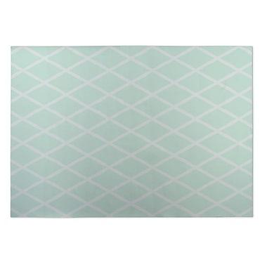 Kavka Lattice Work Green Indoor/Outdoor Doormat; 5' x 7'