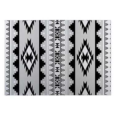Kavka Gray/Black Indoor/Outdoor Doormat; 4' x 5'