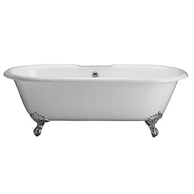 Barclay Duet 67'' x 31'' Soaking Bathtub Kit; Polished Nickel