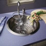 Houzer Hospitality 17.5'' x 17.5'' Topmount Round Bar Sink