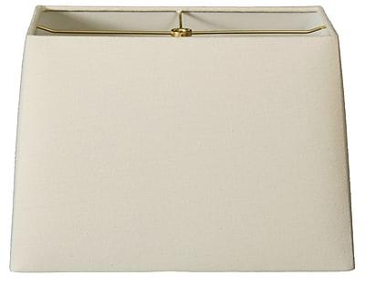 RoyalDesigns Timeless 8'' Linen Rectangular Lamp Shade; Linen Eggshell