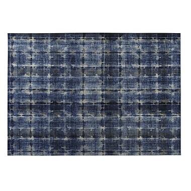 Kavka Shibori Indoor/Outdoor Doormat; Denim