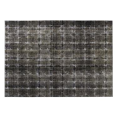 Kavka Gray Indoor/Outdoor Doormat; 5' x 7'