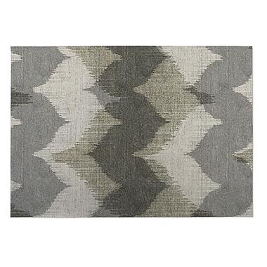 Kavka Bodhi Gray Indoor/Outdoor Doormat; 5' x 7'