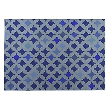 Kavka Blue Indoor/Outdoor Doormat; 5' x 7'