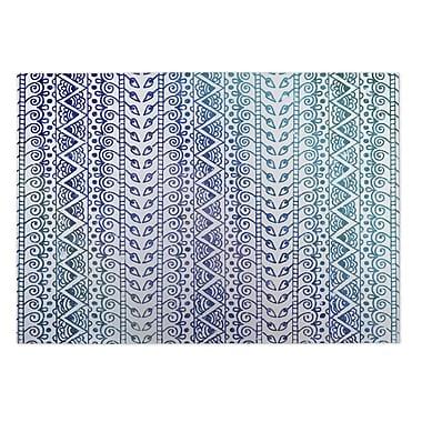 Kavka Ocean Breeze Purple/Blue Indoor/Outdoor Doormat; 5' x 7'