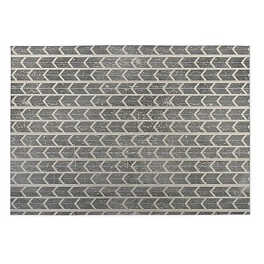 Kavka City Rain Beige/Gray Indoor/Outdoor Doormat; 4' x 5'