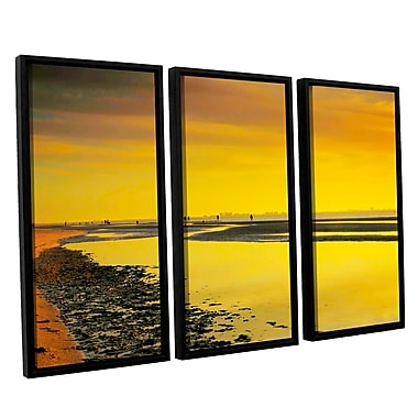 ArtWall Mellow Yellow Morning by Steve Ainsworth 3 Piece Framed Photographic Print Set