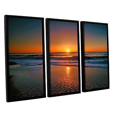 ArtWall Morning Has Broken Ii by Steve Ainsworth 3 Piece Framed Photographic Print Set