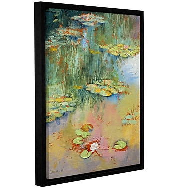 ArtWall Water Lily by Michael Creese Framed Painting Print; 24'' H x 32'' W