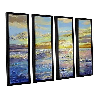 ArtWall Florida Sunrise by Michael Creese 4 Piece Framed Painting Print Set; 36'' H x 48'' W x 2'' D