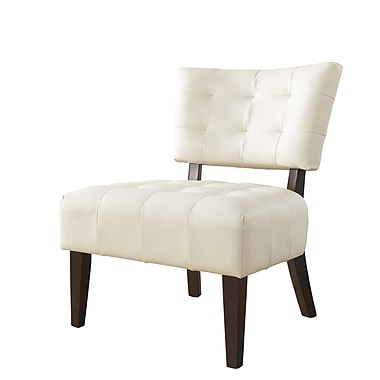 Roundhill Furniture Anjotiya Slipper Chair; Ivory