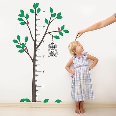 The Decal Guru Tree Growth Chart Wall Decal; Color Option 1