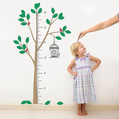 The Decal Guru Tree Growth Chart Wall Decal; Color Option 6